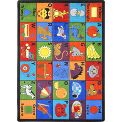 Joy Carpets Kid Essentials Say My Name Multi Area Rug