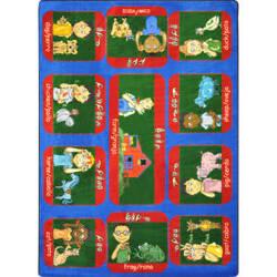 Joy Carpets Kid Essentials Signs On The Farm Multi Area Rug