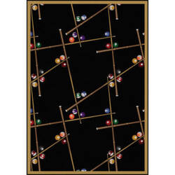 Joy Carpets Games People Play Snookered Black Area Rug