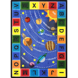 Joy Carpets Kid Essentials Space Alphabet Multi Area Rug