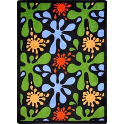 Joy Carpets Kid Essentials Splat Black Area Rug