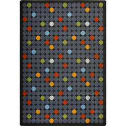 Joy Carpets Playful Patterns Spot On Licorice Area Rug