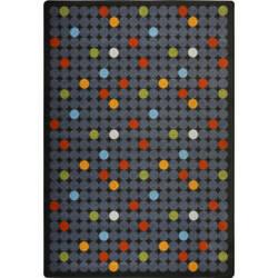 Joy Carpets Playful Patterns Spot On Licorice Area Rug