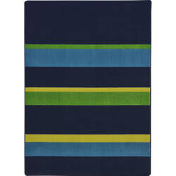 Joy Carpets Kid Essentials Straight And Narrow Navy Area Rug