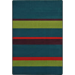 Joy Carpets Kid Essentials Straight And Narrow Tropics Area Rug