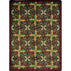 Joy Carpets Kaleidoscope Tahoe Burgundy Area Rug