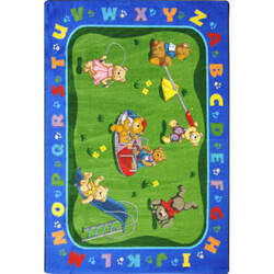 Joy Carpets Kid Essentials Teddy Bear Playground Multi Area Rug