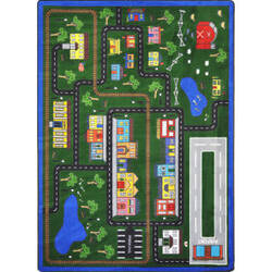 Joy Carpets Kid Essentials Tiny Town Multi Area Rug