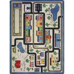 Joy Carpets Kid Essentials Tiny Town Pewter Area Rug