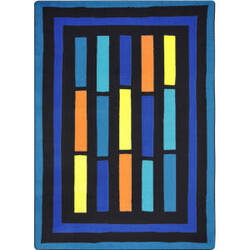Joy Carpets Kid Essentials Traffic Jam Blue Area Rug