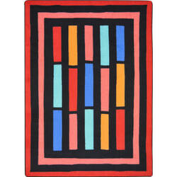 Joy Carpets Kid Essentials Traffic Jam Red Area Rug