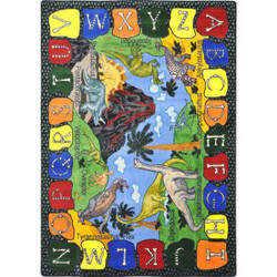 Joy Carpets Kid Essentials We Dig Dinosaurs Multi Area Rug