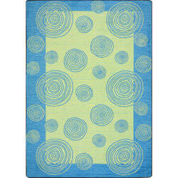 Joy Carpets Kid Essentials Whimzi Teal Area Rug