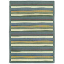 Joy Carpets Kid Essentials Yipes Stripes Soft Area Rug