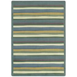 Joy Carpets Kid Essentials Yipes Stripes Soft Area Rug