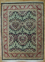 Kalaty Oak 151185 Black Burgundy Area Rug