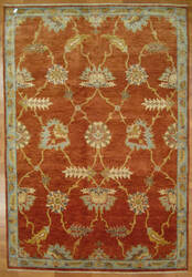 Kalaty Oak 352359 Red Blue Area Rug