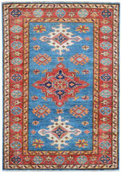 Kalaty Oak Pak Kazak 4493 Blue Area Rug