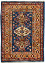 Kalaty Oak Pak Kazak 4554 Blue - Gold Area Rug