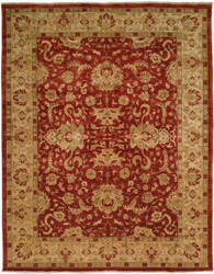 Famous Maker Angelica 100961 Rust - Ivory Area Rug