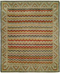 Famous Maker Barton 100798 Flame Multi Area Rug