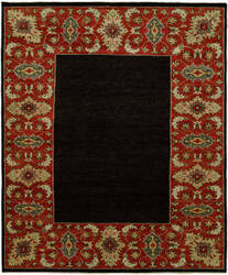 Famous Maker Barton 100799 Black - Red Area Rug