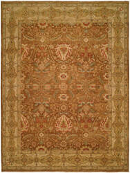 Famous Maker Carolton 100881 Brown Ivory Area Rug