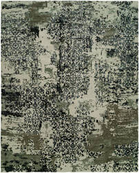 Famous Maker Onyx 100577 Abstract Grey - Blue Area Rug
