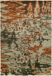 Famous Maker Dynamic 100318 Mirage Burnt Orange Area Rug