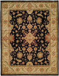 Famous Maker Oushak 100400 Black Area Rug