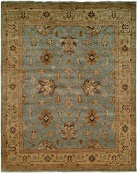 Famous Maker Oushak 100416 Light Blue - Beige Area Rug
