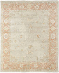 Famous Maker Oushak 100473 Soft Grey / Coral Area Rug