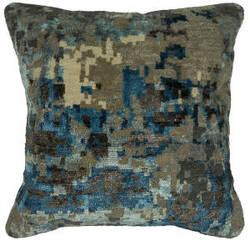 Kalaty Bespoke Pillow Pb-574 Abstract Blue - Grey
