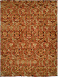 Famous Maker Royal Manner Derbysh 100731 Rust Area Rug
