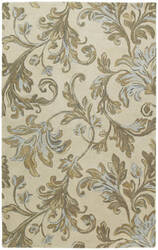 Kaleen Calais Floral Waterfall Ivory 7507-01 Area Rug