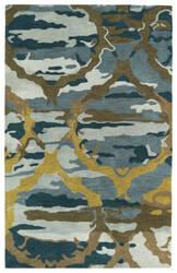 Kaleen Brushstrokes Brs02-17 Blue Area Rug