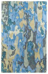 Kaleen Brushstrokes Brs05-17 Blue Area Rug
