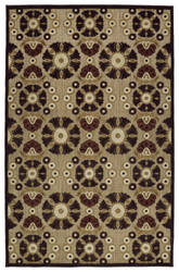 Kaleen A Breath of Fresh Air Fsr06-49 Brown Area Rug