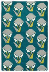 Kaleen Origami Org06-91 Teal Area Rug