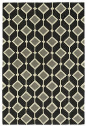 Kaleen Spaces Spa05-02 Black Area Rug