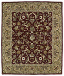 Kaleen Taj Taj04-25 Red Area Rug