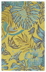 Kaleen Yunque Yun02-28 Yellow Area Rug