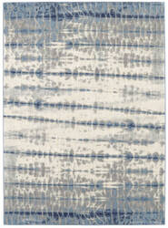 Karastan Expressions Shibori Stripe Indigo Area Rug