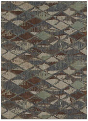 Karastan Elements Finley Denim - Gray Area Rug