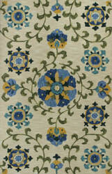 Kas Anise 2410 Ivory / Blue Area Rug