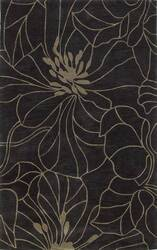 Kas Bali Floral Chic Charcoal-Taupe 2816 Area Rug