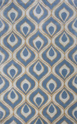Kas Bob Mackie Home 1019 Blue Area Rug
