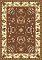 Kas Cambridge Floral Mahal Plum-Ivory 7341 Area Rug