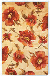Kas Catalina Poppies 766 Ivory Area Rug