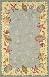 Kas Colonial Ocean Suprise Blue-Ivory 1804 Area Rug